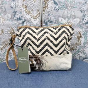 NWT Myra Bag WILD Hairon Wristlet